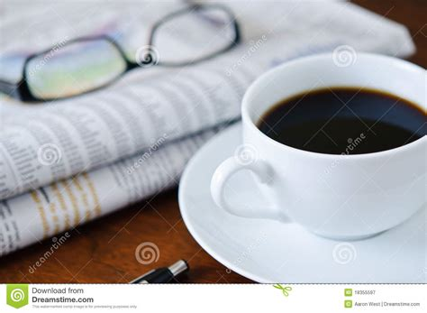 Newspaper, Coffee And Glasses 1 Stock Image Hot Coffee Mugs Online Community Retail Locations Quotes Chocolate Using Maker Perkins Road Mod Youtube Olive Branch Ms And Cold