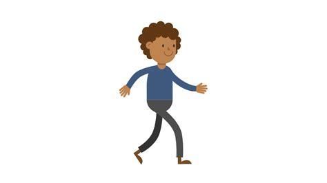 Black Man Walking Cartoon Vector.svg
