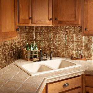 18 in x 24 in traditional 1 pvc decorative backsplash With kitchen cabinets lowes with antique bronze metal wall art