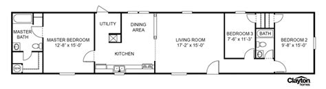 clayton homes xfoot single wide floor plan mobile home floor plans single wide mobile
