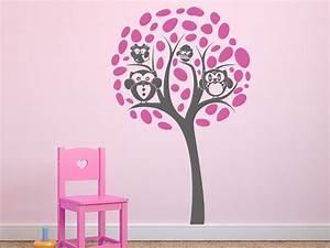 Wandtattoo Baum Kinder : wandtattoo baum mit eulen familie wandtattoo de ~ Whattoseeinmadrid.com Haus und Dekorationen