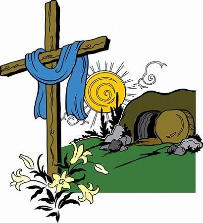 Tomb Jesus Empty Clipart Clip Easter Church