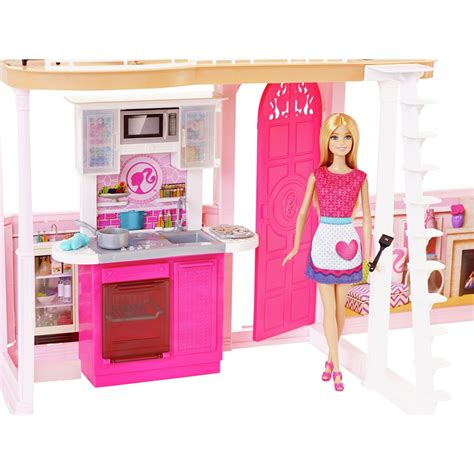 Barbie Complete Glam Home Set House Furniture Pool 3