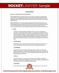 payment bond surety bond form with sample With surety bond letter sample