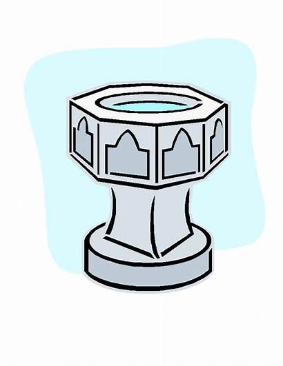 Baptism Font Clipart Clip Baptismal Symbols Cross