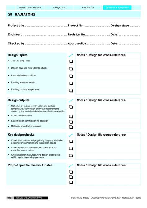 HVAC Design checklist