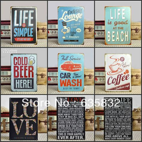 20 30cm is at the vintage sign metal plaques wall decor decorative painting