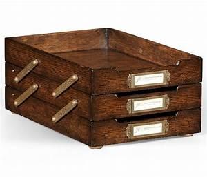 tudor oak triple letter tray With oak letter tray