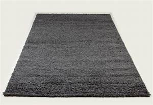 tapis shaggy gris de salon vasco 6 With tapis salon gris