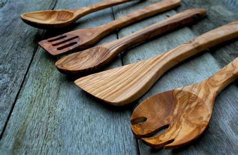 kitchen wood olive utensil tool rustic amazon dish piece utensils ancient wooden accessories decor less essential modern five food something