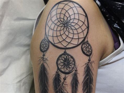 Dream Catcher Tattoo Designs On Yellow Background » Tattoo Ideas