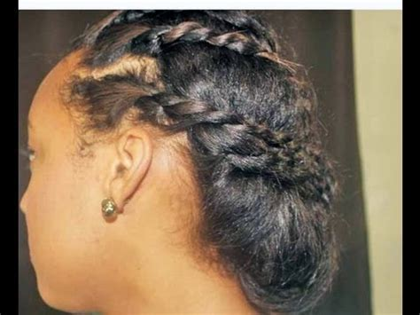 Cute Protective Hairstyle For Transitioning Hair Youtube