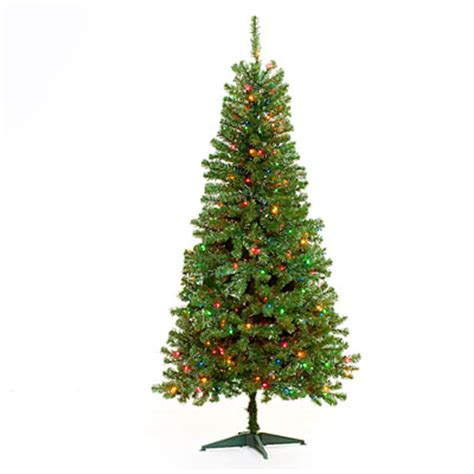 6 pre lit artificial christmas tree multi colored lights