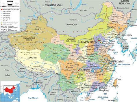 Politiskā karte no Ķīnas, Ķīnas Politisko karti (Austrumu ...
