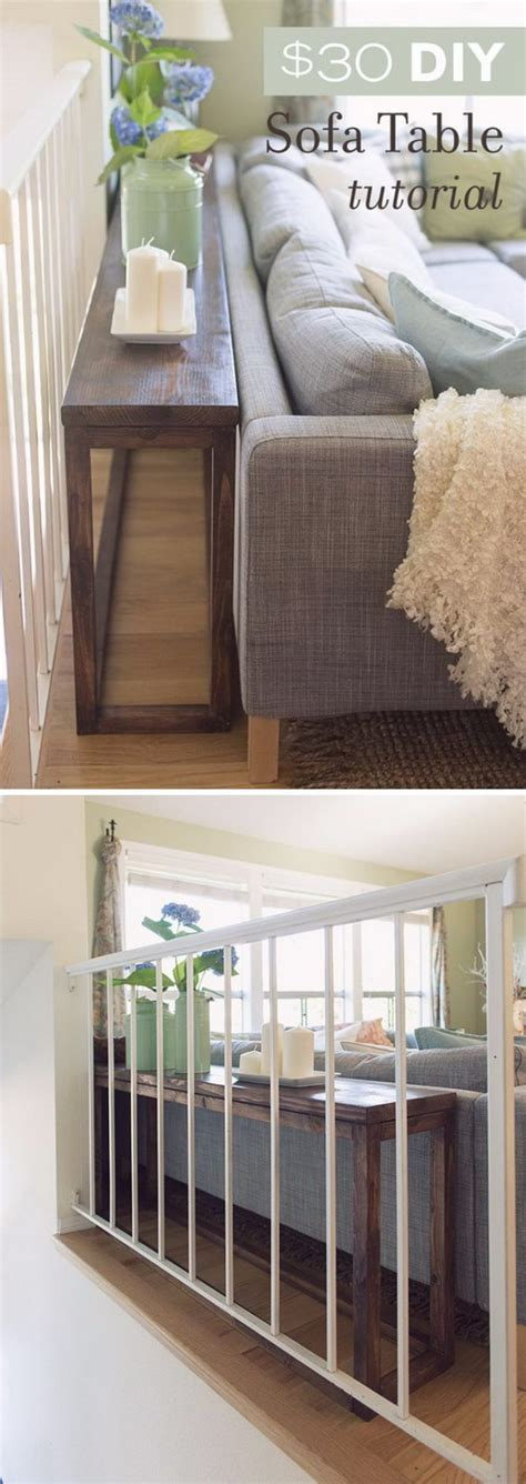 behind the couch diy 20 great ways to make use of the space behind couch for