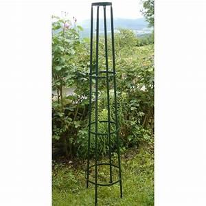Support Pour Rosier Grimpant : votre tuteur colonne corset en acier vert sign jardin et ~ Premium-room.com Idées de Décoration