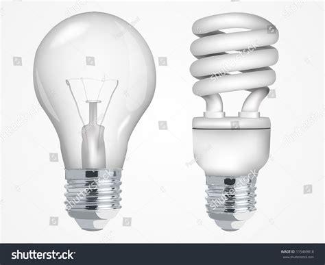 incandescent fluorescent energy saving light bulbs stock