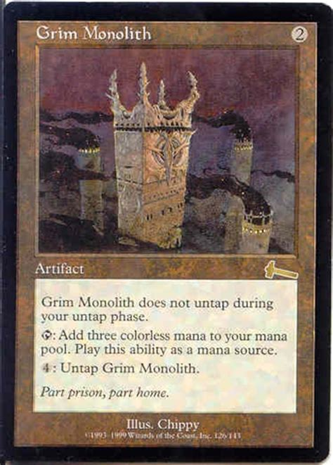 magic the gathering mtg urza s legacy grim monolith