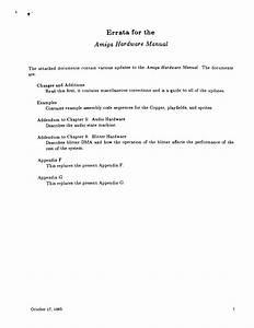 Amiga Hardware Manual Errata