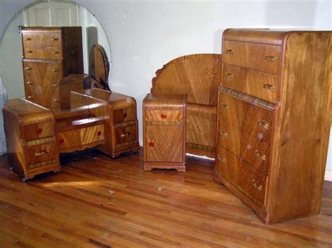 waterfall vanity dresser set waterfall style furniture waterfall bedroom set 1930 40