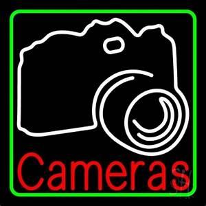 White Camera Neon Sign