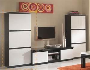 Colonne roma laque bicolore noir blanc for Awesome meuble de cuisine blanc laque 4 colonne roma laque blanc