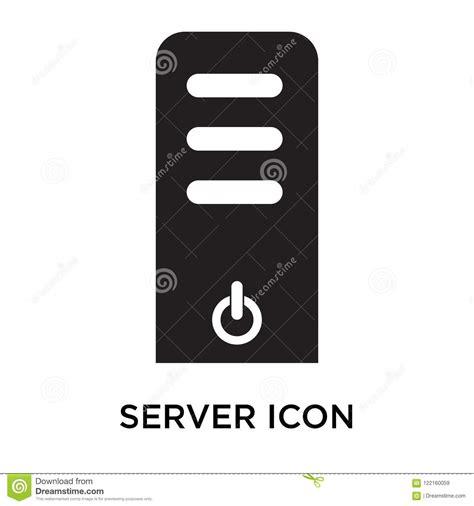 Muestra Y Símbolo Del Icono Del Servidor Aislados En El