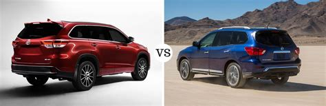 2017 Toyota Highlander Vs 2017 Nissan Pathfinder