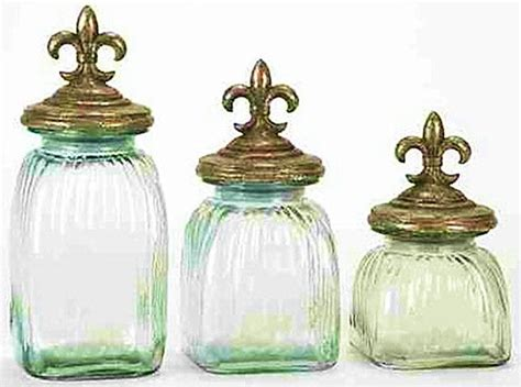 Kitchen Glass Canisters With Lids by Fashioned Country Glass Kitchen Canister Set Of