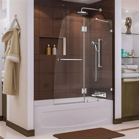 dreamline aqua lux      semi framed pivot tub