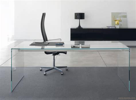 bureau metal verre bureau