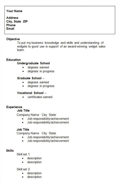 12382 free student resume templates college student resume template