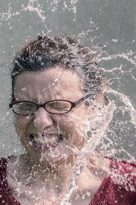 stock photo  adult als ice bucket challenge awareness