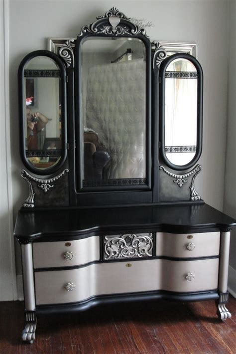 Ebay Dressers With Mirrors by Victorian Gothic Antique Vanity With Tri Fold Mirror