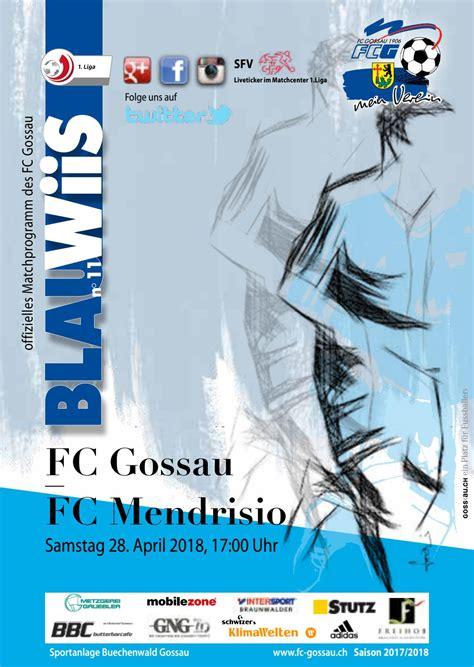 Männer1 1.Liga FC Gossau - FC Mendrisio by FC Gossau SG ...