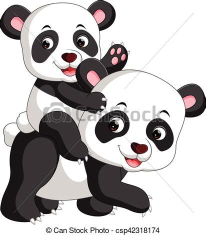 Illustration of cute panda cartoon.   CanStock