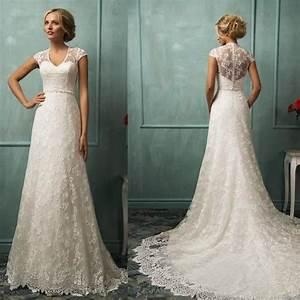 robe de mariee mariage col v dentelle sheer a manches With achat robe de mariée
