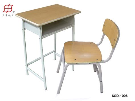 desk and chair student desk and chair wooden top and metal frame