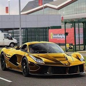 Ferrari LaFerrari Gold Wrapped Photo Re Posted From