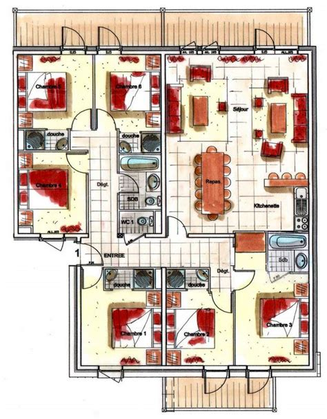 rentals chalet des neiges residence les arolles 6 bedroom apartment for 12 les arolles