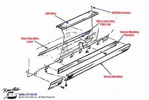 1963 Corvette Door Sills  U0026 Floor Plates Parts