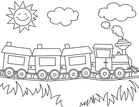 printable coloring pages transportation train
