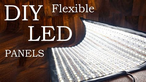 flexible led panels diy flex lights youtube