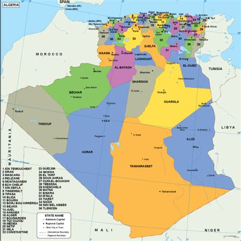 Algeria Maps | Vector & Wall Maps from Netmaps®. Made in ...