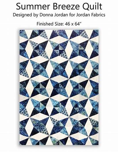 Pattern Breeze Summer Jordan Fabrics Patterns Quilt