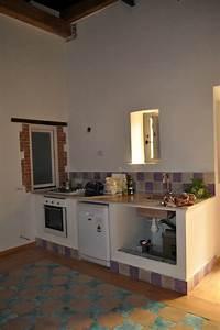 Foto angolo cottura con cucina in muratura realizzata for Cucina con angolo cottura