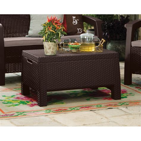 Learn how to do make very nice furniture. Keter Bahamas Storage Coffee Table Brown, Resin Outdoor ...