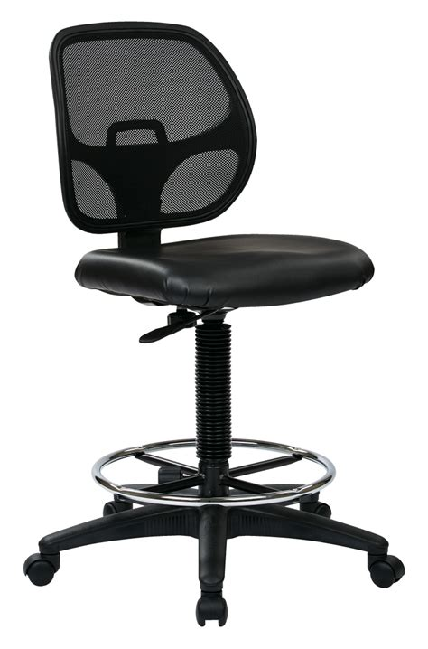 quot deluxe mesh back drafting chair with 20 quot quot diameter foot
