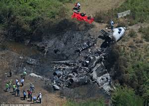 Wreckage of private jet that killed Lewis Katz and 6 ...