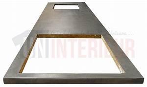 plan de travail de cuisine en zinc patine With decoupe plan de travail pour evier